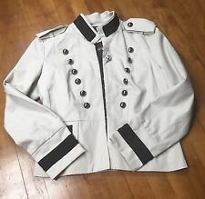 Newport News NWT Women's Steampunk Military Jacket Sz 12 Epaulets