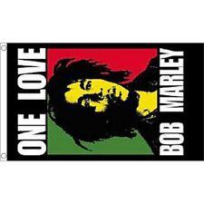 Écussons et drapeaux de collection liés à la musique bob marley