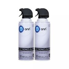 Computer Electronics Duster Compressed Air Cleaner 2 PK 10oz Each ONN Brand NEW