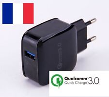 CHARGEUR RAPIDE QUICK CHARGE QUALCOMM 3.0  SAMSUNG SONY HTC APPLE LG 3A 18W