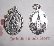 Saint St. Kateri Tekakwitha Italian Silver Tone OX 1 inch Medal
