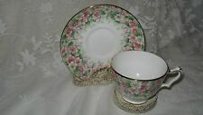 CROWN STAFFORDSHIRE BONE CHINA MAYTIME -CHINTZ CUP AND SAUCER VINTAGE
