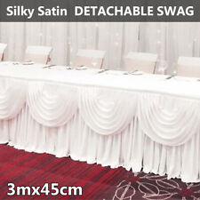 Ice Silk Satin Wedding Backdrop Swags Curtain Party Stage White De