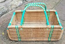 More details for vintage wicker shopping basket. original