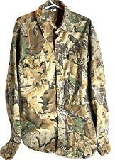 Kids Advantage long sleeve button down camo shirt Made In USA Size XL 14 16 G