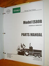 Vogele ES80B PARTS MANUAL CATALOG BOOK HYDRAULIC VIBRATORY SCREED ASPHALT PAVER