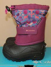 NEW GIRLS COLUMBIA TODDLER TWIN TUNDRA SNOW BOOTS WATERPROOF RASPBERRY PEACH 6