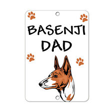 Basenji Dog Dad Metal Sign - 8 In x 12 In