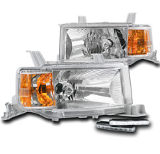 FOR 2004 2005 2006 SCION XB CHROME REPLACEMENT HEADLIGHT HEADLAMP+LED BUMPER DRL