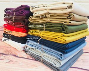 Plain 100% Linen Fabric Material Linens curtains mask dress textile -140cm wide