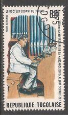 Togo #C259 (A163) VF USED - 1975 80fr Dr. Schweitzer Playing Organ / Music