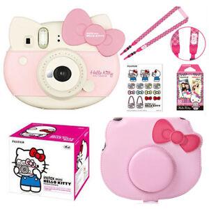 Fujifilm Instax Mini Hello Kitty Instant Photo Film Camera Pink + Bag Case Cover