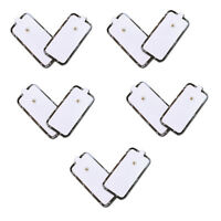 Extra Large Square TENS Unit Replacement Pads Electrode Self Adhesive Snap On XL