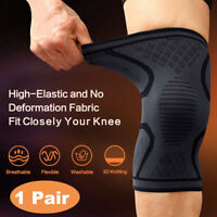 2PCS Knee Sleeve Compression Brace Support For Sport Joint Arthritis Pain Relief