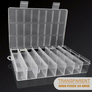 Storage Box Hard Plastic Adjustable Compartment Slot Plastic Craft Organizer UK