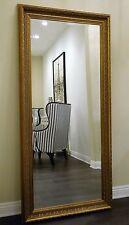 West Frames Elegance Ornate Embossed Antique Dark Gold Wood Framed Floor Mirror