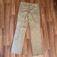 Dickies Women's Industrial Cotton Cargo Pant Size 12 Unhemmed Desert Sand