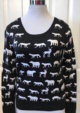 Garage Women's top / sweater size M Wild Animals Design