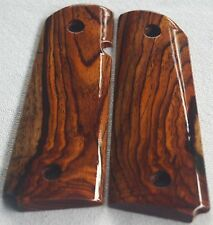COLT 1911 MAGWELL CUT GRIPS 4 COLT FULL SIZE KIMBER, LES BAER COCOBOLO ROOT X-99