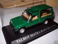 SIM10F Voiture des années 80 1/43 IXO altaya TALBOT matra : RANCHO 1980