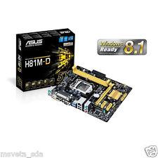 NEW Asus H81M-D Motherboard CPU i3 i5 i7 LGA1150 Intel H81 DDR3 SATA3 USB 3 DVI