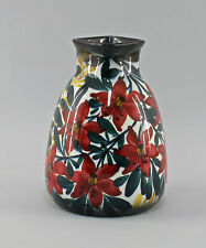 8445003 Keramik Vase Schramberg SMF handgemaltes Blumen Dekor
