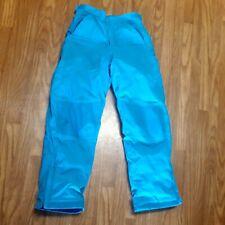 LL BEAN Girls Ski Pants Size 14 Insulated Ski Snowboard Pants Blue