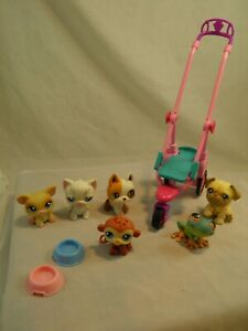 Lot of 6 Littlest Pet Shop Toys & Accessories Frog Pig Dogs Monkey Cats #8