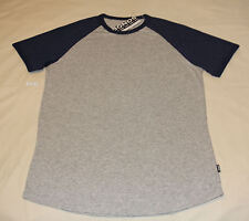 Bonds Mens Grey Marle Navy Slip On Short Sleeve Raglan T Shirt Size XL New
