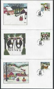 2020 Christmas Maud Lewis Limited FDCs with BK stamps + Bonus