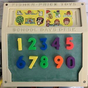 "Vtg Fisher Price School Days Desk #176 1972 10.25""w x 10.25""d x 3.75""h"