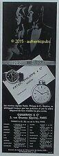 PUBLICITE PATEK PHILIPPE MONTRE BRACELET GOUSSET DE 1933 FRENCH AD PUB ART DECO