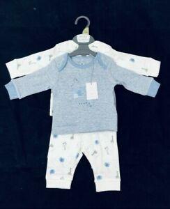 Mothercare Baby Boy Zoo Animal I Love You Daddy 2 Pack Pyjamas 1 3 6 9 12 18 24