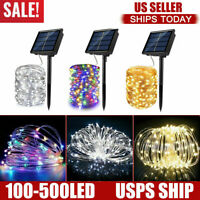 100-500 LED Solar Power String Fairy Lights Garden Outdoor Party Christmas Lamps