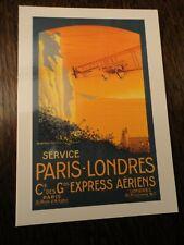 AVIATION. AIR FRANCE.REEDITION CARTE COULEUR. VOL PARIS LONDRES 2004.