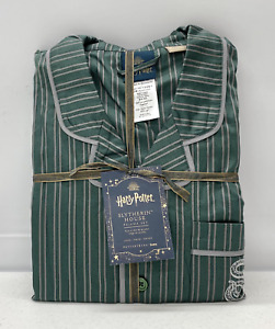 NEW Pottery Barn TEEN Harry Potter Slytherin House LARGE 2-pc. Pajama Set~Green