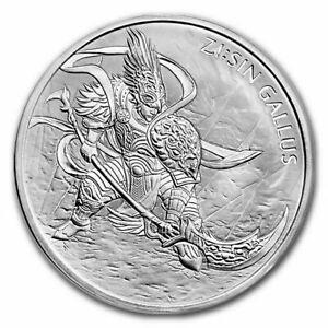 2017 1 oz South Korean Silver .999 Zi:Sin Gallus Coin in Air-Tite Capsule!