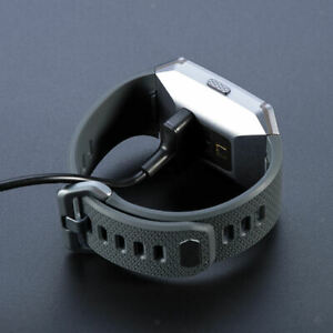 Replacement USB watch charging cable docking station for ionic bracelet black