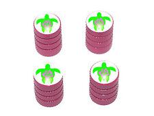 Hibiscus Turtle - Tire Rim Valve Stem Caps - Pink
