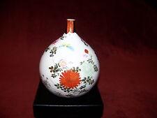 Vintage/ Antique Hand Painted Japanese Kutani Short Neck Bottle Vase
