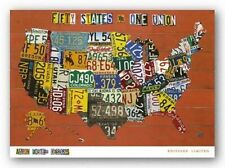 TRAVEL ART PRINT Fifty States One Union Aaron Foster