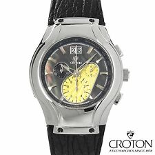 "RETAIL $1,000 80% OFF - MEN'S ""CROTON"" CHRONOGRAPH DATE WATCH NEW IN BOX"