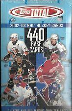 2002-03 Topps Total Factory Sealed Hockey Hobby Box
