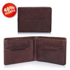 Portafoglio Uomo in Pelle Marrone con Porta Carte di Credito e Documenti  - Gian