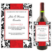 Personalised Wedding Day Wine Champagne Bottle Label N48 ~ Table Favours