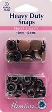 Hemline - Resistente Broches de presión Pack De Recarga: Níquel/Plateado - 15mm