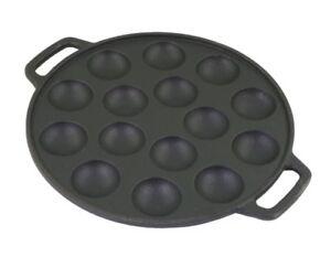 POFFERTJESPFANNE GUßEISEN Ø 23,5 cm Pancakepfanne Pförtchenpfanne Augenpfanne