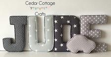 Fabric letters, Wall Art Handmade Padded, Nursery, name, personalised, baby