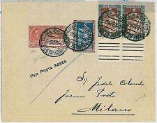 ITALIA storia postale - PRIMI VOLI - LONGHI 1869 ROMA / MILANO 1930 - CANCELLATO