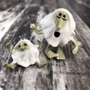 Hagen Renaker Little Horribles Miniature Cave Man Little Old Man White Green Vtg